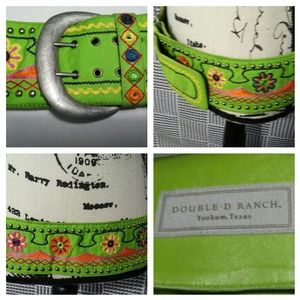 Double D Ranch wide mirrored belt